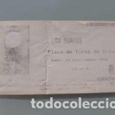 Bilhetes de Concertos: ENTRADA CONCIERTO LOS SUAVES SAN MATEO 1998 OVIEDO. Lote 178964186