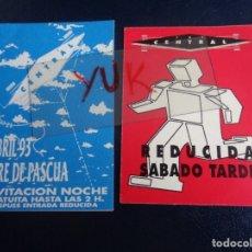 Entradas de Conciertos: DISCOTECA KGB VALENCIA - LOTE 2 FLYERS INVITACIÓN DESCUENTO AÑOS 90 - RUTA BAKALAO. Lote 179019511