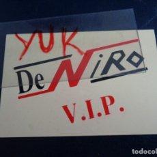 Entradas de Conciertos: VIP , FLYER, ENTRADA O PASE DE LA DISCOTECA DE NIRO DE VALENCIA. Lote 179039310