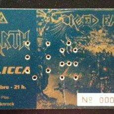 Entradas de Conciertos: ENTRADA CONCIERTO ICED EARTH VALENCIA 2001. Lote 179255145