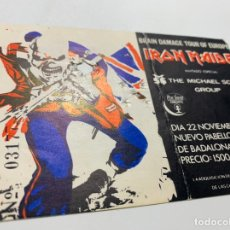 Entradas de Conciertos: ENTRADA DEL CONCIERTO DE IRON MAIDEN BRAIN DAMAGE TOUR BARCELONA 22 NOVIEMBRE 1983. Lote 180022011