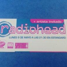 Bilhetes de Concertos: ENTRADA RADIOHEAD 9 MAYO 1994 SALA ESTANDARD BARCELONA TICKET INVITACION SIN USAR.. Lote 180491743