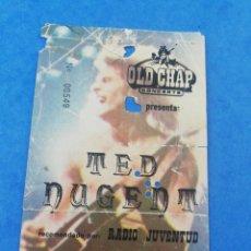 Billets de concerts: ENTRADA CONCIERTO TED NUGENT 20 MAYO 1981 BADALONA PABELLON USADA RADIO JUVENTUD TICKET.. Lote 180492246
