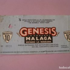 Entradas de Conciertos: ENTRADA CONCIERTO GENESIS. MALAGA, ESTADIO ROSALEDA. 1987.. Lote 181150887