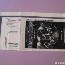 Entradas de Conciertos: ENTRADA CONCIERTO DE GRUPO ESPAÑOL PINK TONES, TOUR 2013. PINK FLOYD SHOW. MALAGA. 2013.. Lote 181184855
