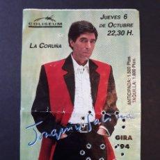 Biglietti di Concerti: JOAQUÍN SABINA. A CORUÑA, COLISEUM. 6 DE OCTUBRE DE 1994.. Lote 182148600