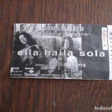 Entradas de Conciertos: ENTRADA CONCIERTO, INVITACIÓN, ELLA BAILA SOLA + RAFA FERRÁ, POLIESPORTIU SANTANYI, MALLORCA AÑO 98. Lote 183033666