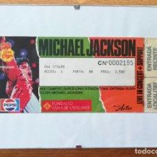 Entradas de Conciertos: MICHAEL JACKSON ENTRADA CONCIERTO NOU CAMP 1988 ENMARCADA . Lote 183068132