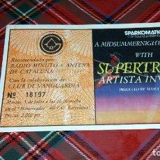 Entradas de Conciertos: SUPERTRAMP ENTRADA CONCIERTO (1983). Lote 183083895