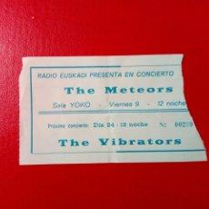 Entradas de Conciertos: ENTRADA: THE METEORS + THE VIBRATORS (9-ENERO-1984) - BILBAO, SALA YOKO -. Lote 183512827