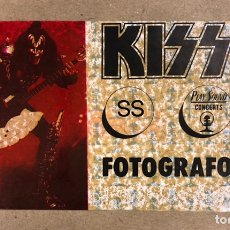 Biglietti di Concerti: KISS, AUTORIZACIÓN ORIGINAL FOTÓGRAFOS CONCIERTO SAN SEBASTIÁN EN 1983. FORMATO PEGATINA (USADA).. Lote 166067994