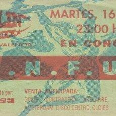 Entradas de Conciertos: S.N.F.U. - ENTRADA - VALENCIA SALA ZEPPELIN ROCK 2009 #. Lote 186015211