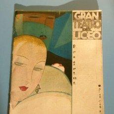 Entradas de Conciertos: GRAN TEATRO DEL LICEO (TEMPORADA 1927-28) LA LEYENDA LA CIUDAD INVISIBLE DE KITEJ - RIMSKI-KÓRSAKOV. Lote 186171116