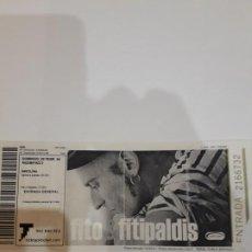 Entradas de Conciertos: ENTRADA CONCIERTO FITO &FITIPALDIS.RAZZMATAZZ.22.02.2004. Lote 186320900