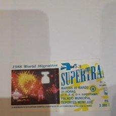 Entradas de Conciertos: ENTRADA CONCIERTO SUPERTRAMP.1988.. Lote 186323685