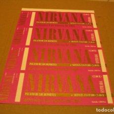 Entradas de Conciertos: NIRVANA 4 ENTRADAS BARCELONA 1994 ESPAÑA PRUEBAS DEL PROMOTOR SIN NUMERAR. Lote 186327828