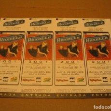 Entradas de Conciertos: ROXETTE 4 ENTRADAS MADRID 2001 ESPAÑA PRUEBAS DEL PROMOTOR SIN NUMERAR. Lote 186328311