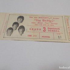 Entradas de Conciertos: THE BEATLES ENTRADA ORIGINAL CONCIERTO ÚNICO EN BARCELONA EN LA MONUMENTAL 3 DE JULIO DE 1965 (GC). Lote 188414986