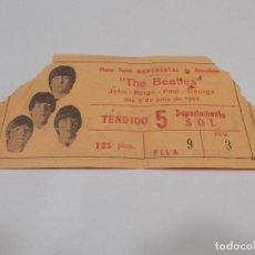Entradas de Conciertos: THE BEATLES ENTRADA ORIGINAL CONCIERTO ÚNICO EN BARCELONA EN LA MONUMENTAL 3 DE JULIO DE 1965 (C). Lote 199960025