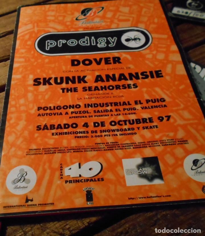 THE PRODIGY URBAN HIGH ENTRADA DOVER SKUNK ANANSIE THE SEAHORSES HABITACION ROJA VALENCIA 1997 SPAIN (Música - Entradas)