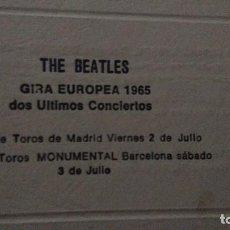 Bilhetes de Concertos: ORIGINAL PASE DE PRENSA EN LA PRESENTACION DE THE BEATLES EN ESPAÑA ( AÑO 1965 ). Lote 189829407