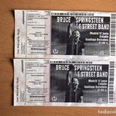 Billets de concerts: ENTRADAS BRUCE SPRINGSTEEN EN MADRID. Lote 190837907