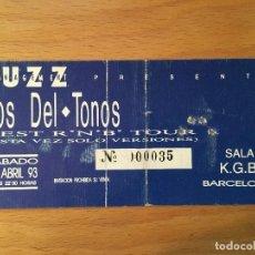 Entradas de Conciertos: DEL TONOS. ENTRADA . BARCELONA .. Lote 190878078