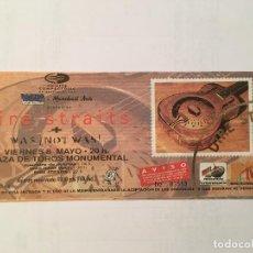 Billets de concerts: DIRE STRAITS. ENTRADA SIN ROMPER 8/5/92 BCN. Lote 286842058