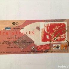 Biglietti di Concerti: DIRE STRAITS. ENTRADA SIN ROMPER 29/8/92 CACERES. Lote 286841398