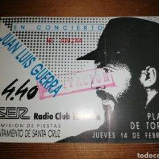 Entradas de Conciertos: ANTIGUA ENTRADA JUAN LUIS GUERRA Y 4.40 - TENERIFE. Lote 192365577