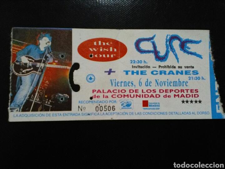 ENTRADA CONCUERTO THE CURE MADRID 1992 (Música - Entradas)