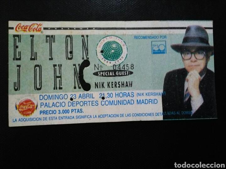 ENTRADA CONCIERTO ELTON JOHN MADRID 1989 (Música - Entradas)