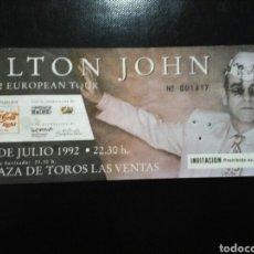 Entradas de Conciertos: ENTRADA CONCIERTO ELTON JOHN MADRID 1992. Lote 194086410