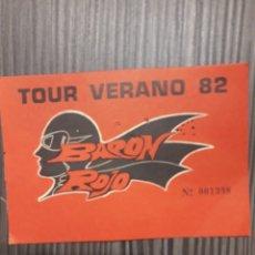 Biglietti di Concerti: BARON ROJO. Lote 194088158