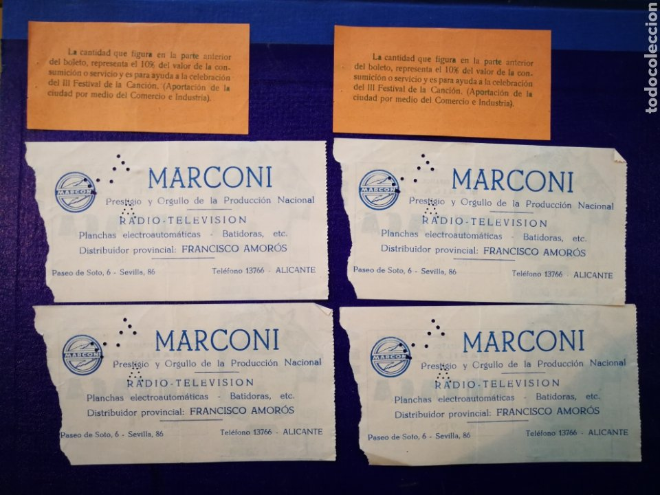 Entradas de Conciertos: LOTE DE 6 ENTRADAS PARA III FESTIVAL ESPAÑOL DE LA CANCIÓN. BENIDORM JULIO 1961. - Foto 10 - 194320475