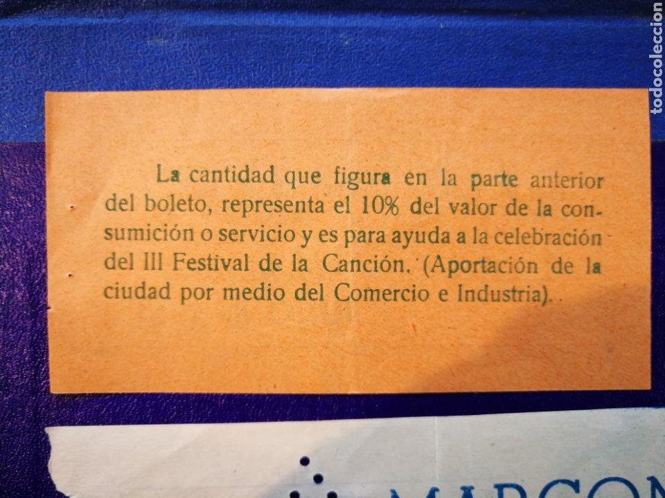 Entradas de Conciertos: LOTE DE 6 ENTRADAS PARA III FESTIVAL ESPAÑOL DE LA CANCIÓN. BENIDORM JULIO 1961. - Foto 11 - 194320475