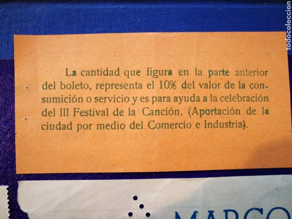 Entradas de Conciertos: LOTE DE 6 ENTRADAS PARA III FESTIVAL ESPAÑOL DE LA CANCIÓN. BENIDORM JULIO 1961. - Foto 12 - 194320475