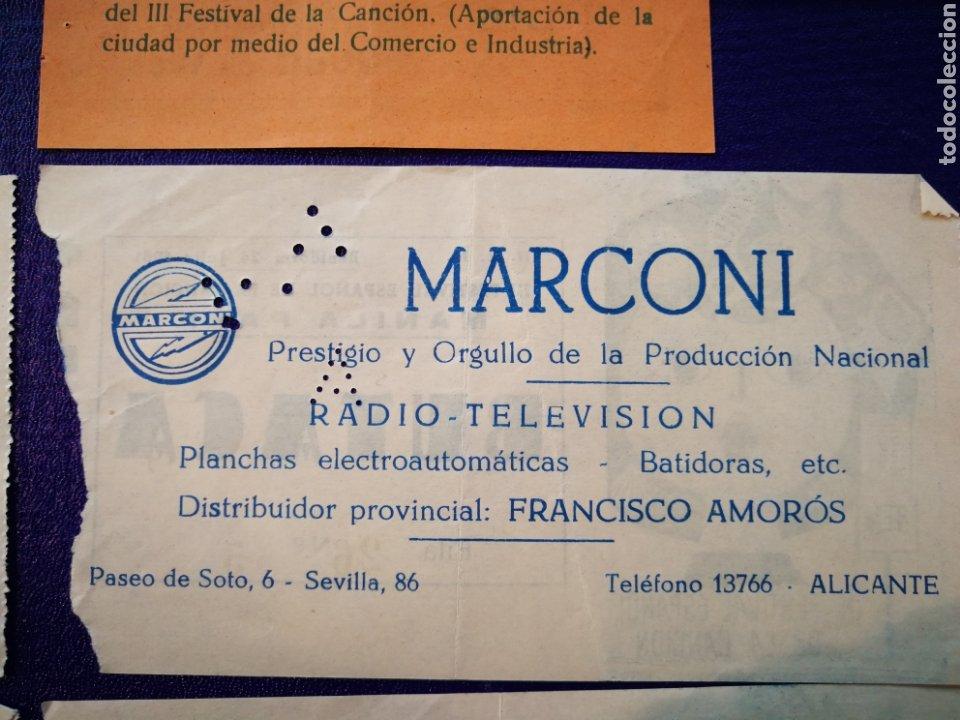Entradas de Conciertos: LOTE DE 6 ENTRADAS PARA III FESTIVAL ESPAÑOL DE LA CANCIÓN. BENIDORM JULIO 1961. - Foto 14 - 194320475