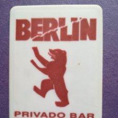 Entradas de Conciertos: ENTRADA PASE VIP BAR BERLIN VALENCIA AÑOS 80. Lote 194341498