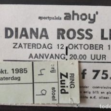 Entradas de Conciertos: ENTRADA DEL CONCIERTO DE DIANA ROSS - BEWIJS VAN TOEGANG - 12 DE OCTUBRE 1985 HOLANDA. Lote 194581463