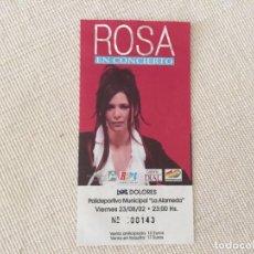 Entradas de Conciertos: ENTRADA CONCIERTO ROSA LOPEZ DOLORES ALICANTE 23 DE AGOSTO 2002. Lote 194617557