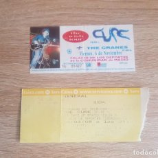 Entradas de Conciertos: ENTRADA CONCIERTO THE CURE MADRID 1993 + 2008. Lote 194635680