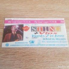 Entradas de Conciertos: ENTRADA CONCIERTO STING - THE SOUL CAGES TOUR 7 DE JUNIO 1991; ESTADIO DEL MOLINÓN GIJÓN (ASTURIAS). Lote 194711147