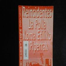 Entradas de Conciertos: ENTRADA CONCUERTO REINCIDENTES LA POLLA CHE GUEVARA BURGOS 1997. Lote 195044433