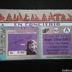 Entradas de Conciertos: ENTRADA CONCIERTO REINCIDENTES 2000. Lote 195045352