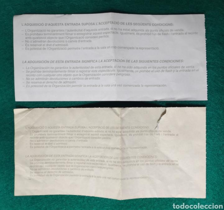 Entradas de Conciertos: EL ÚLTIMO DE LA FILA ENTRADA CONCIERTO LOTE 2 BARCELONA - Foto 4 - 195163075