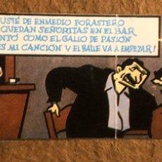 Entradas de Conciertos: RADIO FUTURA. ENTRADA COMPLETA DE CONCIERTO EN FADURA (GETXO) 1985. DIBUJO COMIC ORIGINAL MAX. Lote 195792086