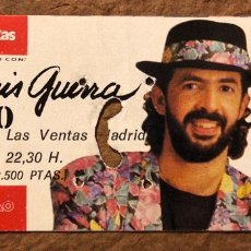 Entradas de Conciertos: JUAN LUIS GUERRA 4:40. ENTRADA COMPLETA CONCIERTO PLAZA TOROS LAS VENTAS (MADRID) EN 1991. Lote 195792528