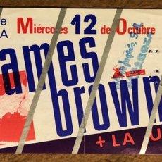 Entradas de Conciertos: JAMES BROWN + LA UNIÓN. ENTRADA CONCIERTO ESTADIO LA ROMAREDA ZARAGOZA (1988).. Lote 195905855