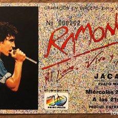 Entradas de Conciertos: RAMONCÍN. ENTRADA CONCIERTO GRABACIÓN AL LÍMITE, VIVO Y SALVAJE. SALA JACARA (MADRID), EN 1990. Lote 196015905